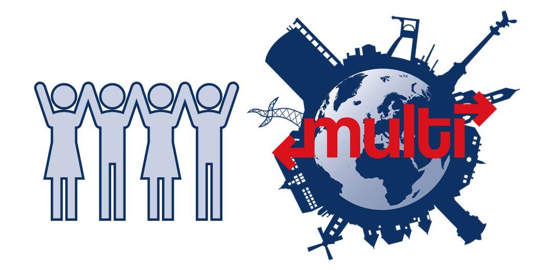 Multi Symbol Menschen Jubeln
